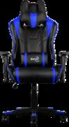 Кресло для геймера Aerocool AC220-BB , черно-синее, до 150 кг, размер, см (ШхГхВ) : 66х63х125/133