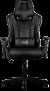 Кресло для геймера Aerocool AC220-B , черное, до 150 кг, размер, см (ШхГхВ) : 66х63х125/133