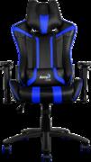 Кресло для геймера Aerocool AC120-BB , черно-синее, до 150 кг, размер, см (ШхГхВ) : 70х55х124/132
