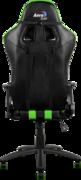 Кресло для геймера Aerocool AC120-BG , черно-зеленое, до 150 кг, размер, см (ШхГхВ) : 70х55х124/132