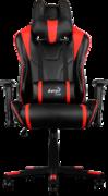 Кресло для геймера Aerocool AC220-BR , черно-красное, до 150 кг, размер, см (ШхГхВ) : 66х63х125/133