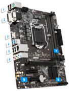 Материнская плата MSI H310M PRO-VDH, LGA 1151v2, Intel H310, mATX, Ret