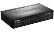 DES-1008P Неуправляемый коммутатор с 8 портами 10/100Base-TX (4 порта с поддержкой PoE 802.3af (15,4 Вт), PoE-бюджет 52 Вт)